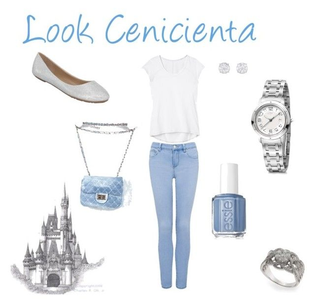 Cenicienta by romi-lagos-vilches on Polyvore featuring moda, Athleta, Forever New, Hermès, Effy Collection, Essie and Disney