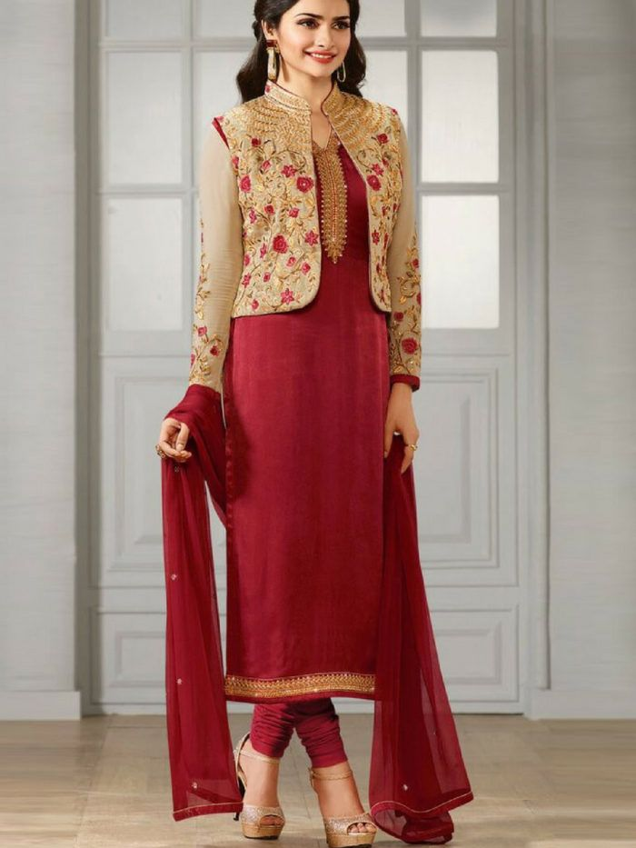 6dd397879a SHORT JACKET STYLE SALWAR KAMEEZ DESIGNS FOR WEDDING | Fashion in ...