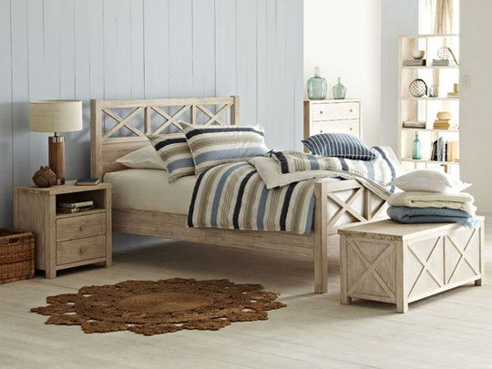 Ocean Grove Bed Frame Queen Bed Frame Cross Thatch Slat