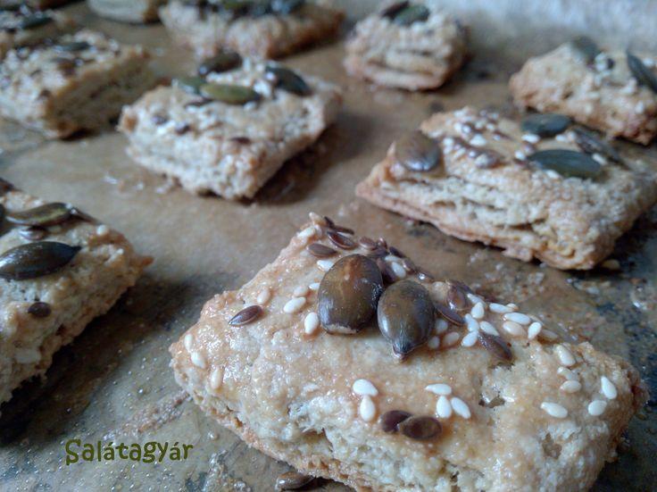 Diétás leveles tésztából készült magos pogácsa
