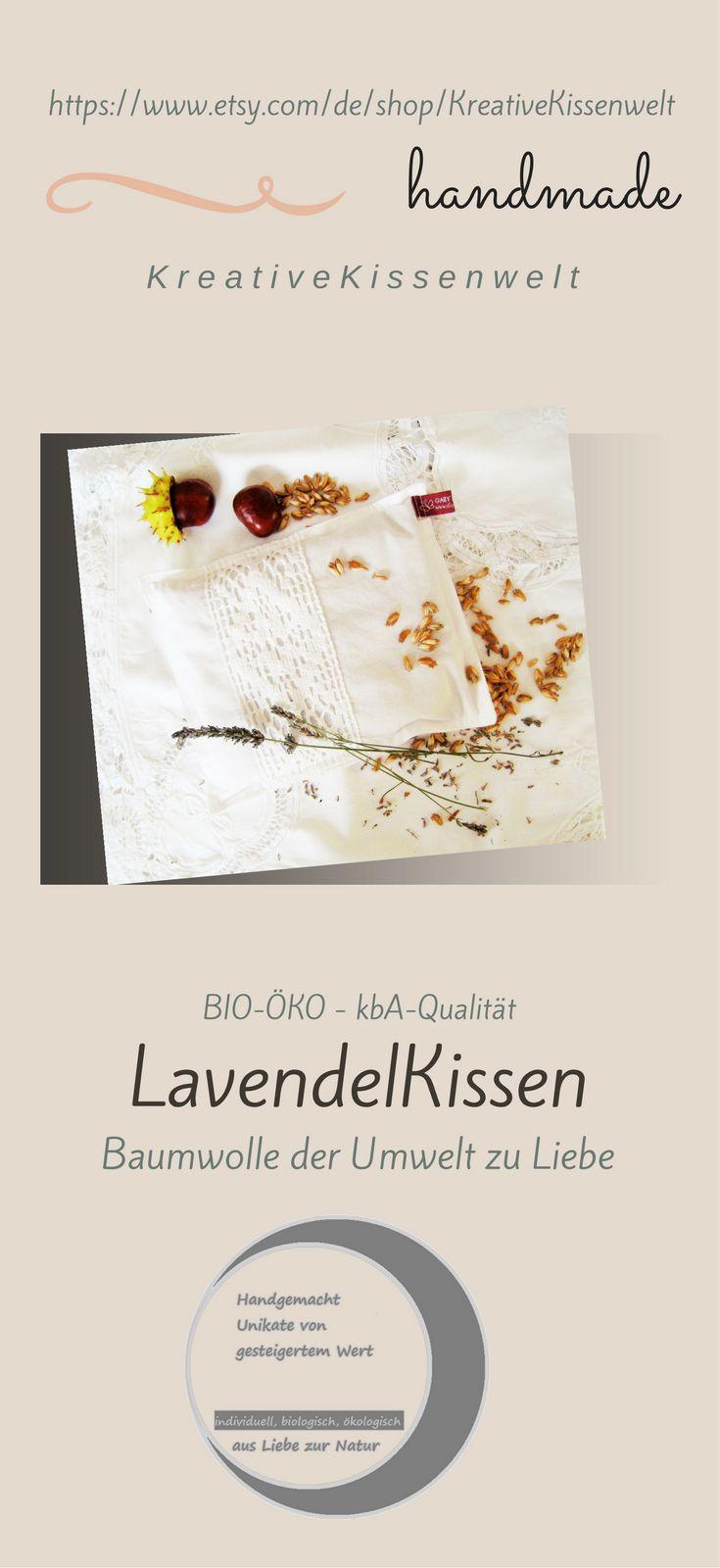 """weißes BIO Lavendel Duftkissen mit Spitze, Lavendel kbA Qualität, Eigenanbau, Dinkelspelz ökologischer Anbau vom BIO-Hof, 22x19 cm, 8.5""""x7"""","""