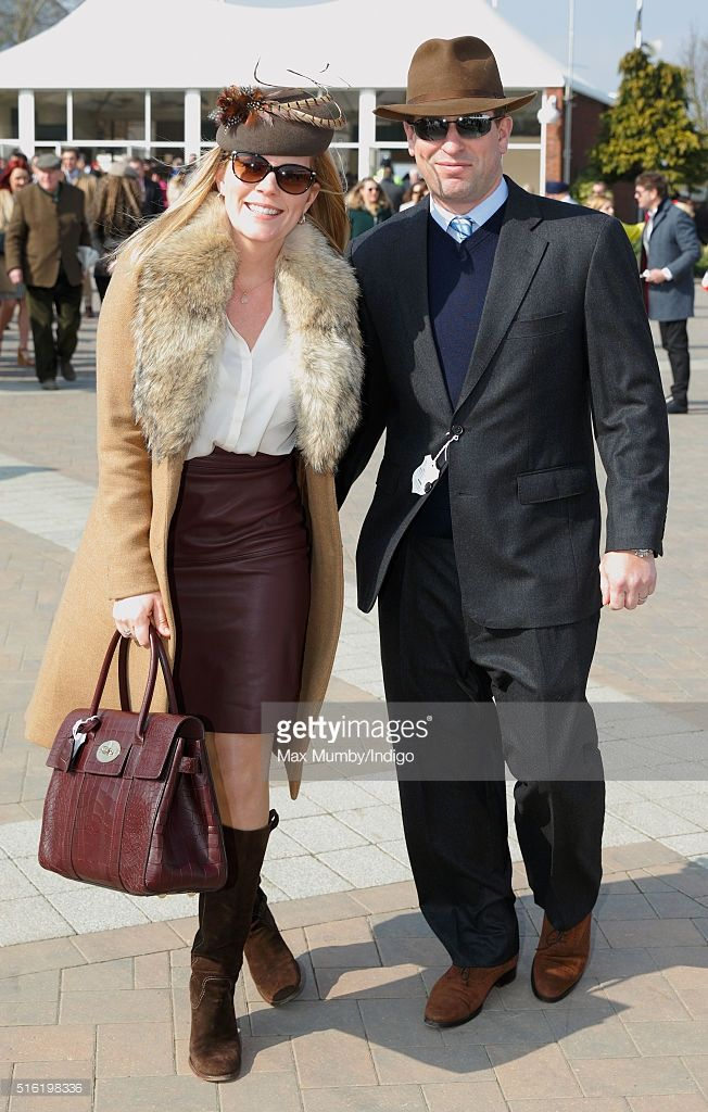 Autumn Phillips and Peter Phillips attend day 3, St Patrick's Day, of the Cheltenham Festival on March 17, 2016 in Cheltenham, England. (Photo by Max Mumby/Indigo/Getty Images)