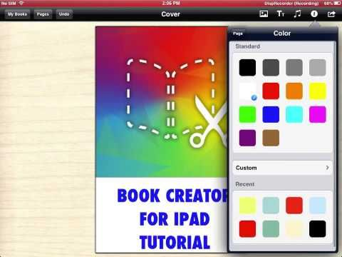 Book Creator for iPad tutorial Pt 1 - YouTube