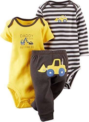 Carter's 3 Piece Take Me Away Set (Baby) - Construction Carter's is the leading brand of children's clothing, gifts and accessories in America, selling mor Carter's Baby Boys' 3 Piece Take Me Away Set (Baby)