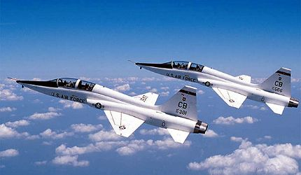 Northrop Grumman T-38 Talons - Were often used by NASA, as the coolest company vehicles ever!