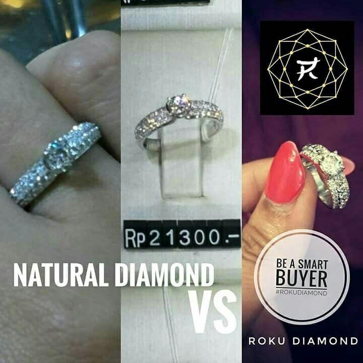 1. Keluarkan uang Rp 21.3 Juta dapet Natural Diamond spt di foto.  2. Keluarkan uang Rp 2.5 Juta dapet 1 set Roku Diamond (2 box) ( 1.75 carat + 0.03 carat ) trus diikat emas sekitar 3.3 juta. Total Rp 5.8juta sudah dapet cincin berlian Roku spt di foto.   BE SMART BUYER #ROKUDIAMOND  WA 📲 0857-815-61109 LINE 📲shanny.paulina