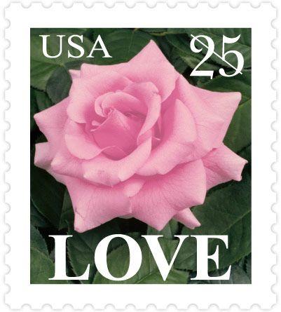 Rose Us Postage Stamp