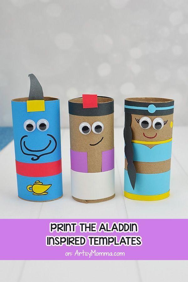 Disney's Aladdin Movie Character Crafts For Kids: Genie ...