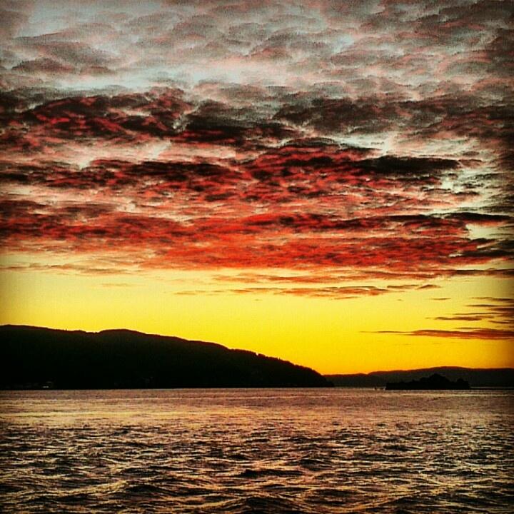 Sunset in Trondheim.