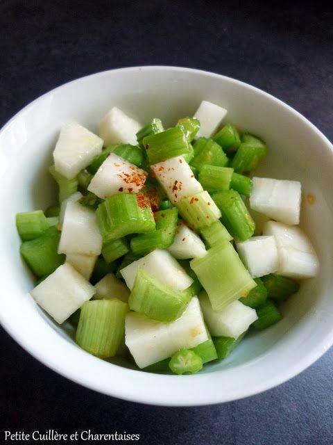Salade détox Céleri et Radis Noir à la Vinaigrette de Clémentine