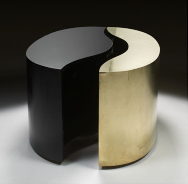 Yang yin coffee table by gabriella crespi furniture for Table yin yang