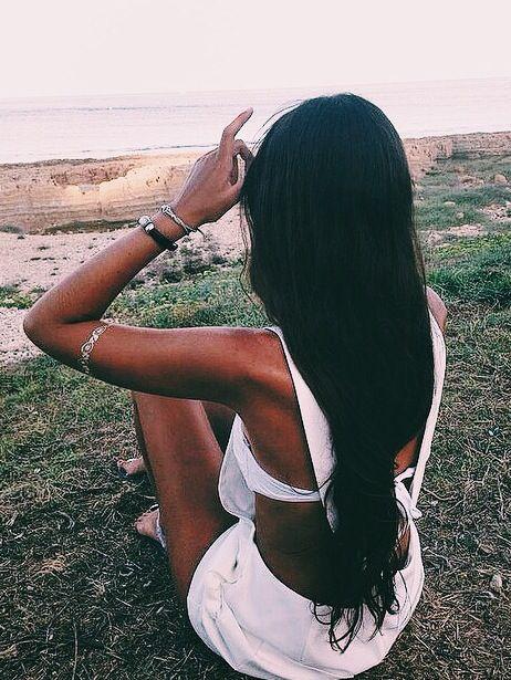 black hair tan skin