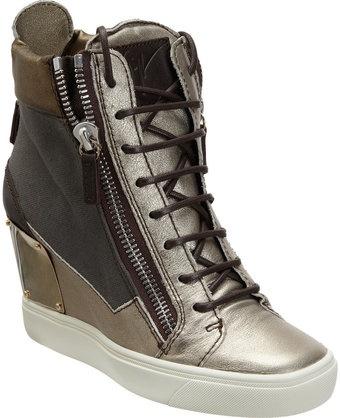 Giuseppe Zanotti Combo Zip Wedge Sneaker - Lyst