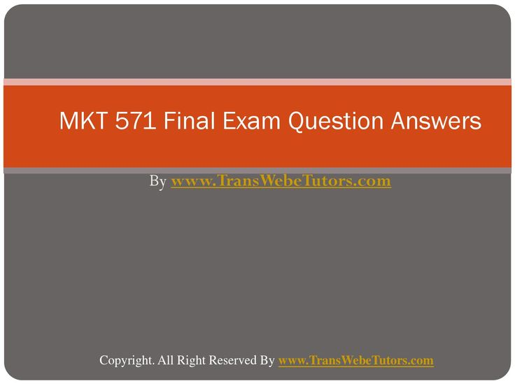 Find MKT 571 Final Exam Latest UOP Final Exam Questions With Answers homework help which contains entire course question and answers, etc. and remove every confusion about the subject by taking these tutorials. TransWebeTutors.com also provide Homework Assignment, Final Exam Study Guides, University of phoenix DQ, etc