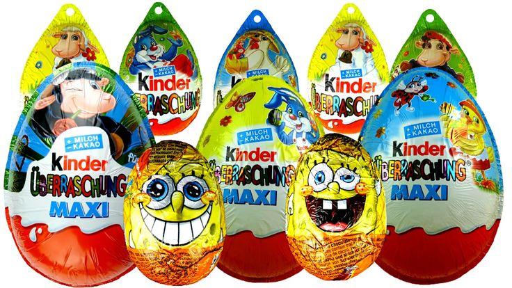 20 Surprise Eggs Kinder Surprise Hello Kitty Mickey Mouse 3 Maxi eggs Ba...