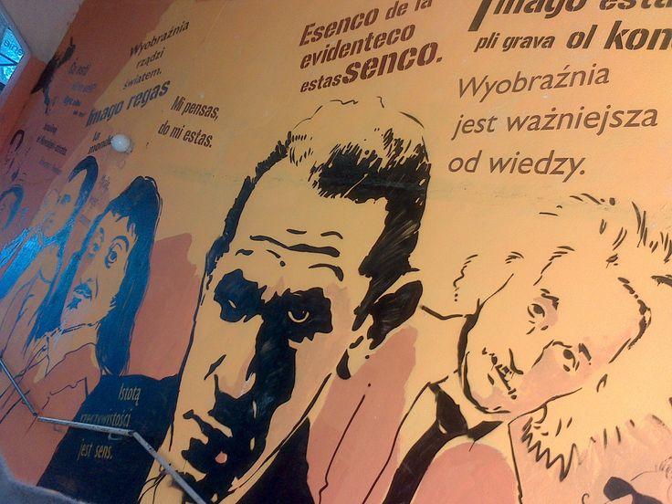 Warszawa, Warsaw, graffiti, Ludwik Zamenhoff, esperanto
