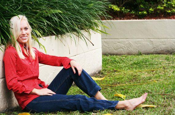 1970s Skinny dark blue jeans by dvorahivy on Etsy, $40.00
