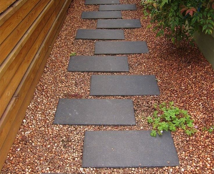 27 easy and cheap walkway ideas for your garden gardens for Easy garden path ideas