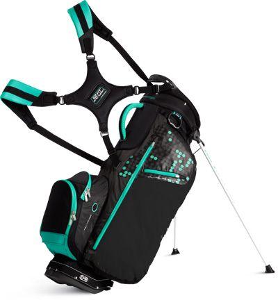 Sun Mountain Ladies Three 5 Stand/Carry Golf Bags - Black Shadow & Aqua Lori's Golf Shoppe