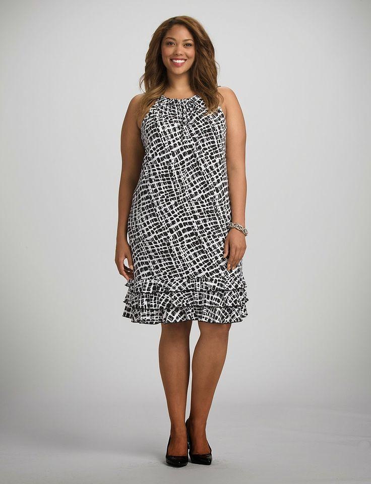 Llamativos vestidos cortos para gorditas | Vestidos de tallas grandes para gorditas
