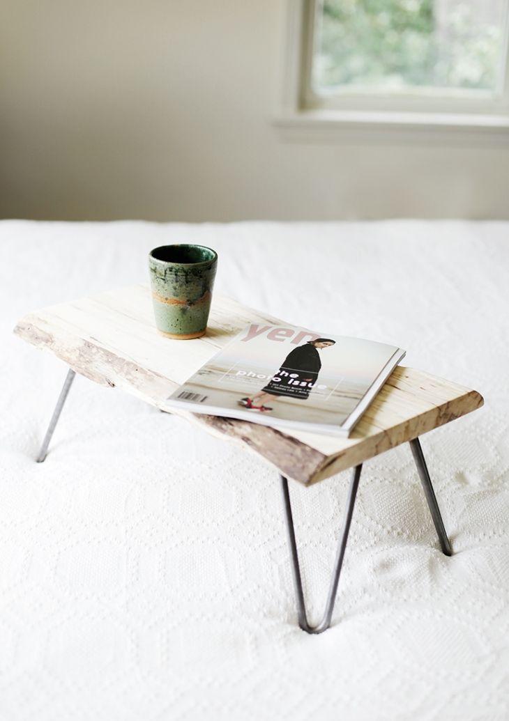 DIY Wood & Hairpin Leg Lap Desk @themerrythought