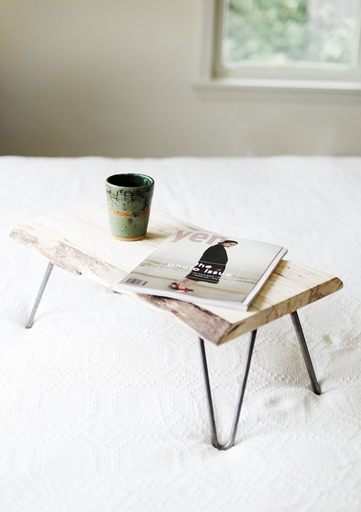 Hairpin legs bed table