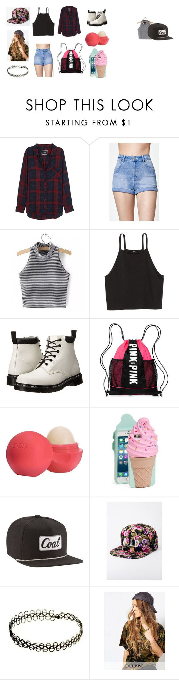 """Theme park outfit!"" by crazisuki on Polyvore featuring Rails, Kendall + Kylie, Dr. Martens, Victoria's Secret, Eos, Kate Spade, Coal, Kill Brand and Reclaimed Vintage"