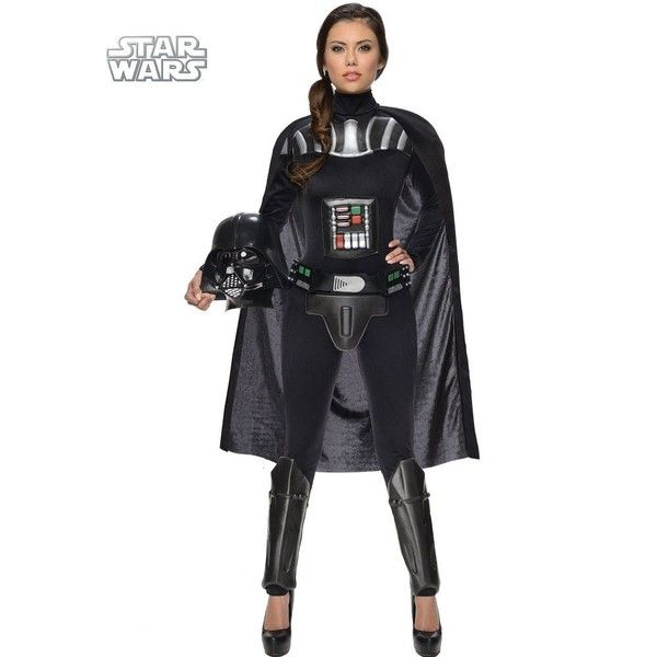 Adult Darth Vader Sexy Costume ($80) ❤ liked on Polyvore featuring costumes, halloween costumes, multicolor, sexy darth vader costume, star wars darth vader costume, colorful halloween costumes, adult costumes and darth vader costume