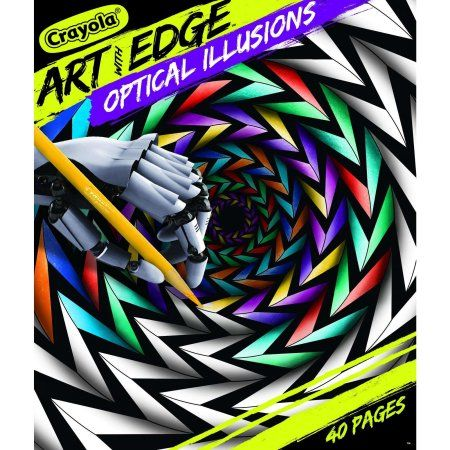 Crayola Art With Edge Optical Illusions Coloring Book 40 Pages Child Walmart Com In 2020 Optical Illusions Art Optical Illusions Crayola Art