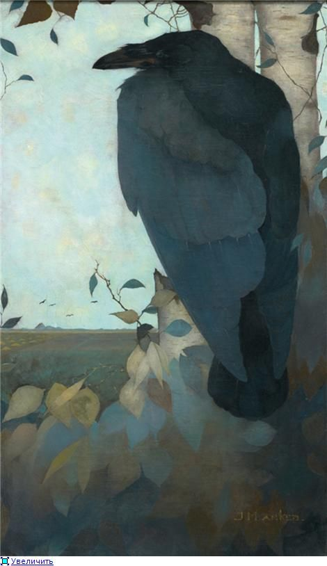 De Raaf (The Raven) by Jan Mankes (Dutch, 1889–1920) http://www.pylgeralmanak.nl/?pagina_id=110