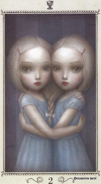 Two of Cups - Nicoletta Ceccoli Tarot by Nicoletta Ceccoli
