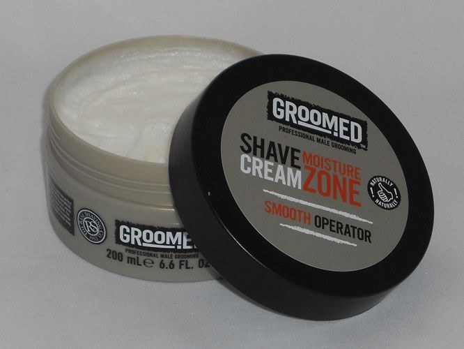 Groomed Moisture Zone Shave Cream 200ml - £6.50 with free delivery from www.bigpoutcosmetics.co.uk. In stock now! #malegrooming #mensshaving