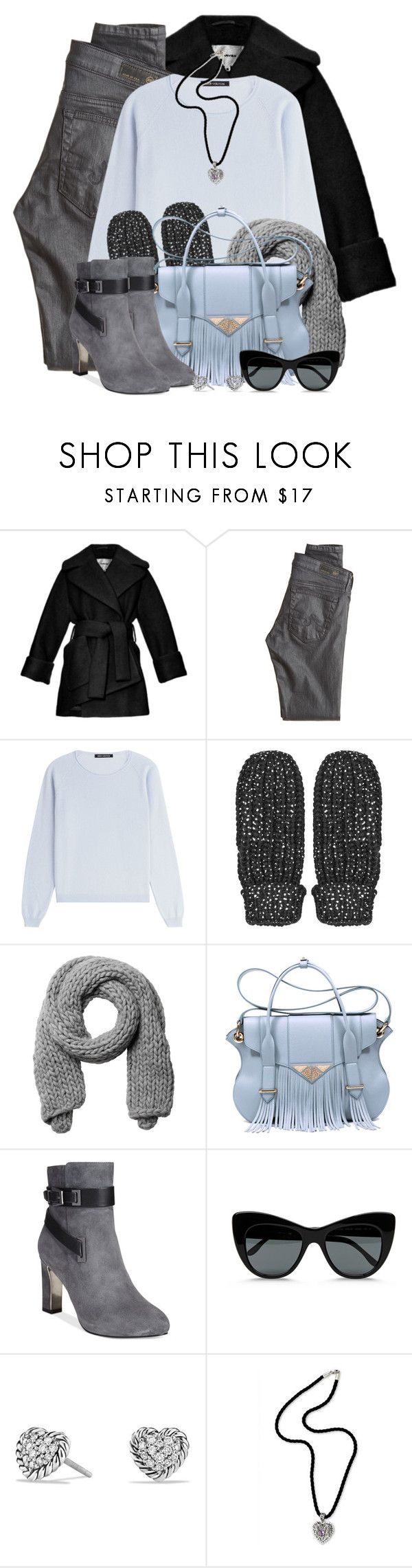 """""""Fringed Tote & Ankle Boots"""" by brendariley-1 ❤ liked on Polyvore featuring Carven, AG Adriano Goldschmied, IRIS VON ARNIM, Topshop, Monki, Ella Rabener, Alfani, STELLA McCARTNEY, David Yurman and NOVICA"""