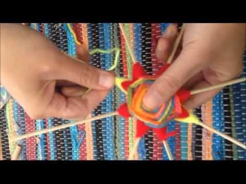 como hacer puntas en mandalas tejidos - YouTube