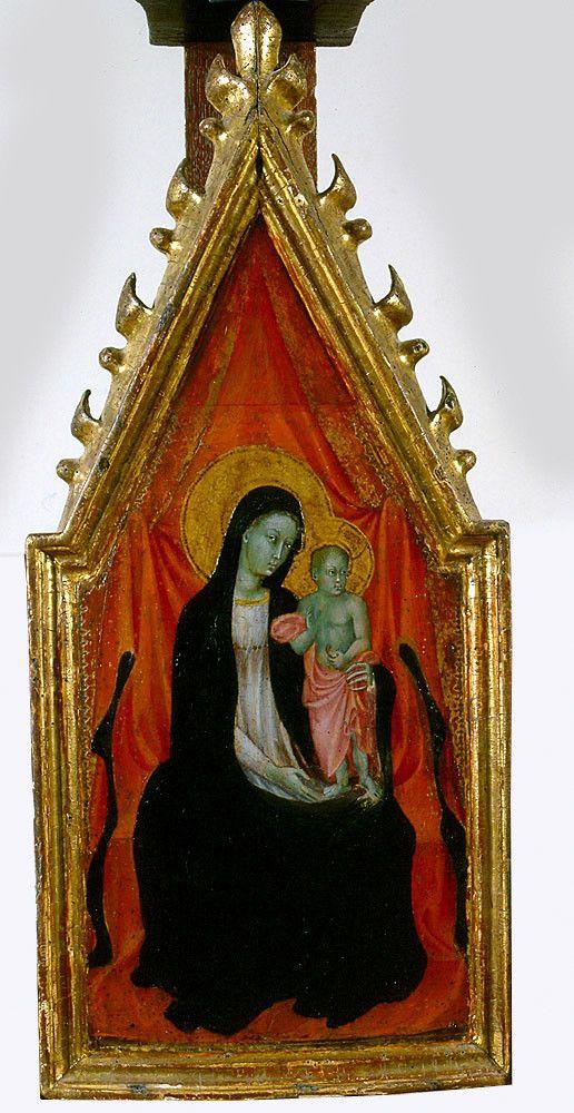 Paolo di Giovanni (già attribuito al Sassetta ecc.) , Vergine con Bambino, museo delle arti di Tours (F)