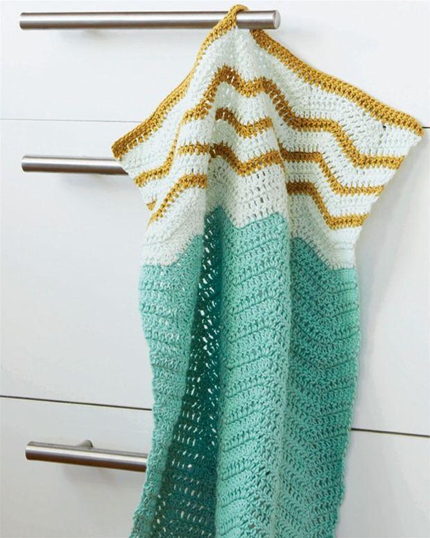 Hækl selv: Flot håndklæde - Hendes Verden