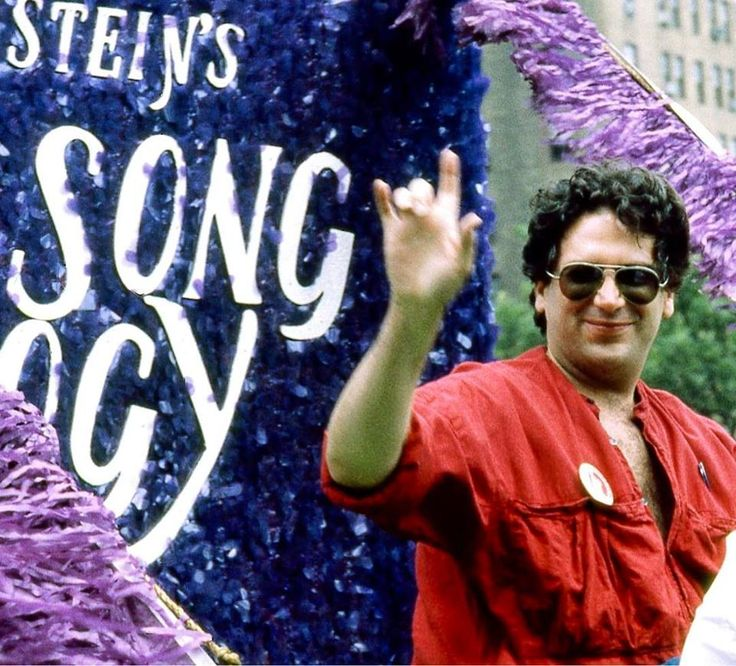 """""""I just want to be loved, is that so wrong?!"""" – Arnold Beckoff, """"Torch Song Trilogy."""" Picture: Harvey Fierstein, """"Torch Song Trilogy"""" float, Christopher Street Liberation Day Parade, New York City, June 24, 1984. Photographer unknown, photo c/o @lgbt_history."""