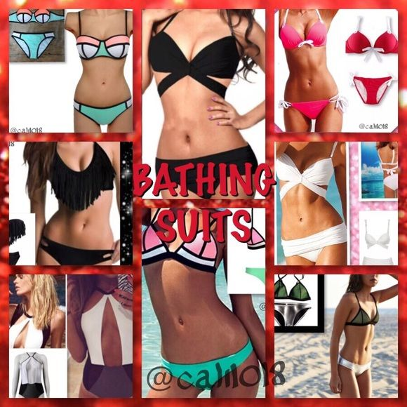 SWIMWEAR LOOKBOOK ALL AVAIL NOW IN CLOSET & MORE ❤️Welcome to my closet! I have many items so that everyone has the opportunity to find what they need. If you are interested in being notified when new items come in specifically in this category please like this listing and I will lower the price when new items land that would fit this group. If you need me to help find any of these items for u just let me know. This is only a few of the items in this category...there are more listed for…