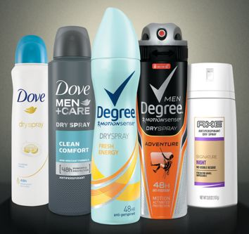 FREE Sample of Dove Degree or Axe Dry Spray Antiperspirant (back) - http://ift.tt/209O64j