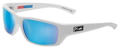 Pelagic Fish Whistle Polarized Sunglasses - Gloss White/Aqua