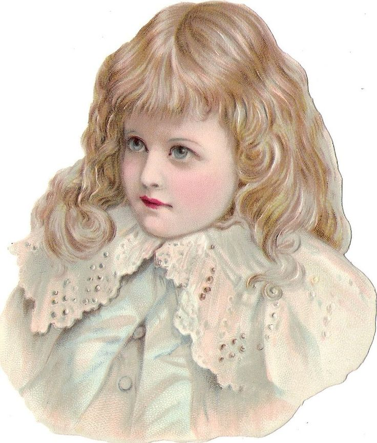 Oblaten Glanzbild scrap die cut chromo Kind child 14cm  fillette girl buste