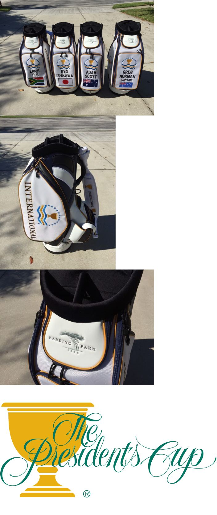 Golf 428: Ernie Els - The Presidents Cup 2009 International Bag - South Africa -> BUY IT NOW ONLY: $980 on eBay!