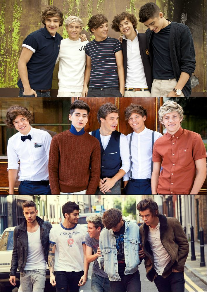Liam Payne | Niall Horan | Louis Tomlinson | Harry Styles | Zayn Malik | One Direction 2011 ---> 2012 ---> 2013