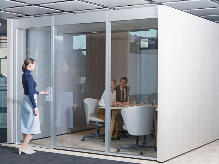 Acoustic Meeting Pod With Built In Lights Nooxs Think Tank