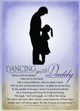 Dancing with Daddy Poem Gift @Diana Avery Drysdale this is sooo freaking cute!!! perfect to do from McKenna