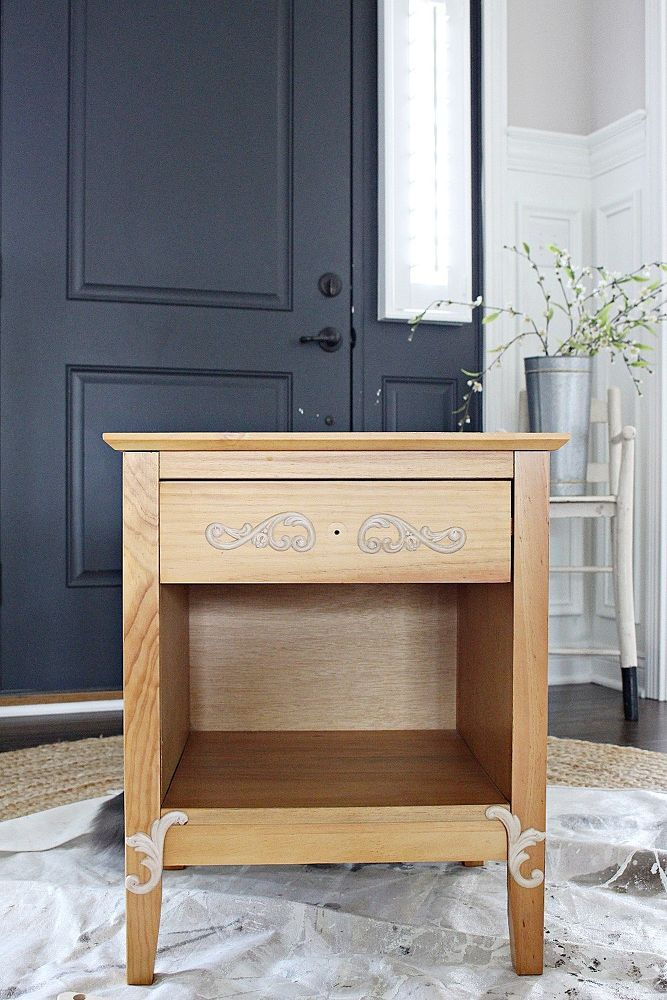 From Mission Style To Cottage End Table Makeover End Table