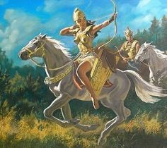 Sarmatian Queen Amage ruled on behalf of her husband in the 4th Century BC. After a neighboring Scythian prince continued to ignore her demands to stop raiding her lands, Amage personally led 120 warriors to kill him,