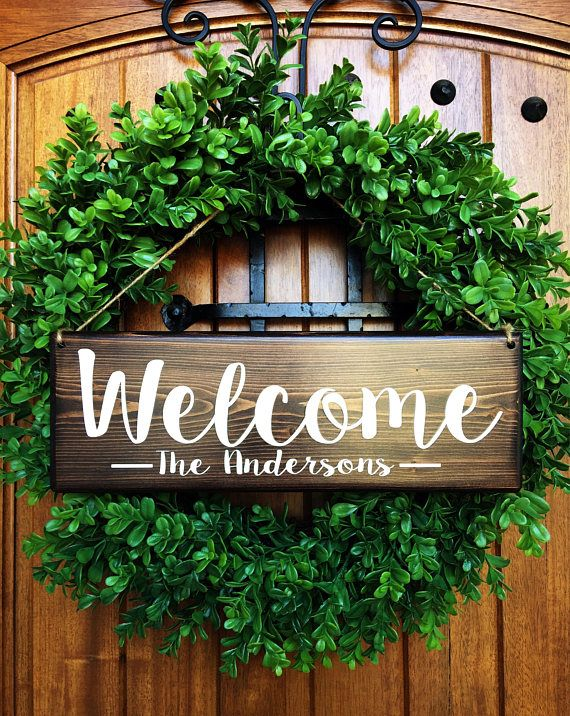 Welcome Sign Welcome Door Sign Personalized Sign Family Etsy In 2020 Front Door Signs Welcome Signs Front Door Bedroom Door Decorations
