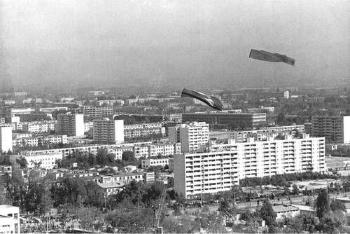 Ташкент. Вид части города.