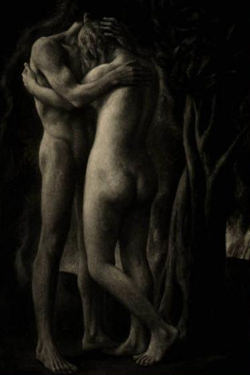 """""""Lovers""""      """" Paradiso Perduto  """"  by  Ubaldo Oppi  Thanks to  Mycolorbook for this sensuous embrace."""